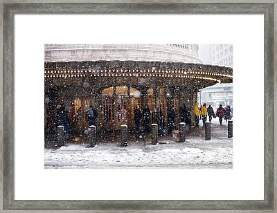 Grand Central Terminal Snow Color Framed Print
