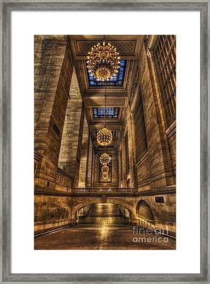 Grand Central Terminal Station Chandeliers Framed Print by Susan Candelario