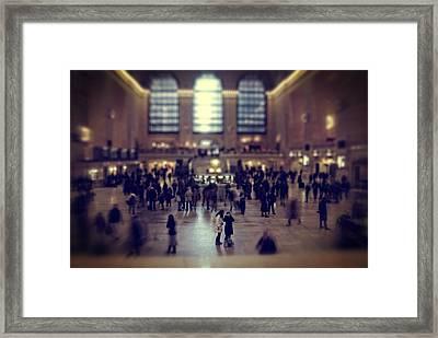 Grand Central Tilt Framed Print by Emmanouil Klimis