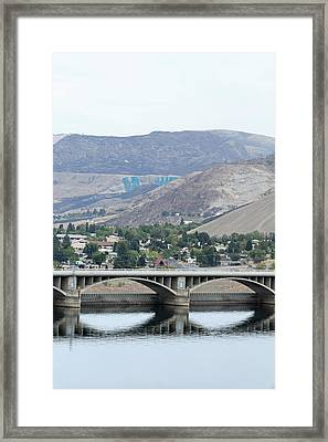 Framed Print featuring the photograph Grand Coulee Dam And Coulee City by E Faithe Lester