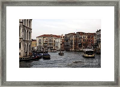Grand Day On The Canal Framed Print