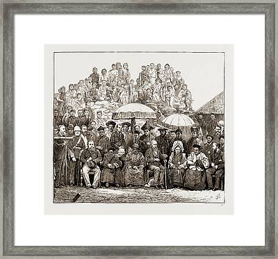 Grand Durbar At Darjeeling, India. Visit Of The Lieut Framed Print by Litz Collection