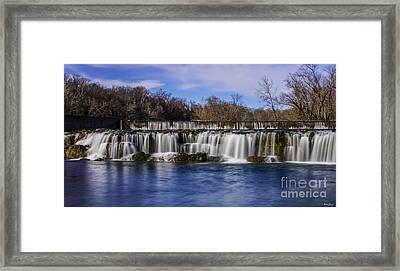 Grand Falls In Joplin Missouri Framed Print