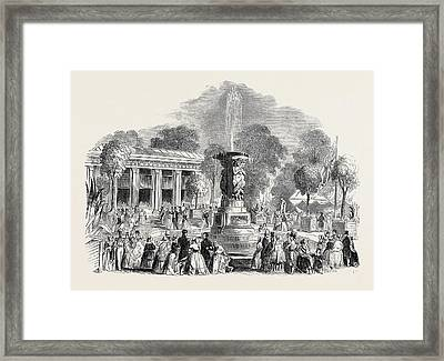 Grand Fete At Mount Edgecumbe Framed Print by English School
