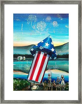 Grand Finale Framed Print by Shana Rowe Jackson
