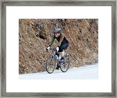 Grand Fondo Rider Framed Print by Susan Leggett