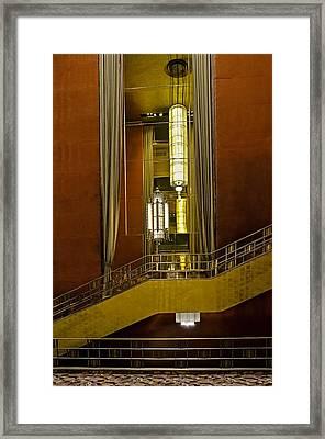 Grand Foyer Staircase Framed Print