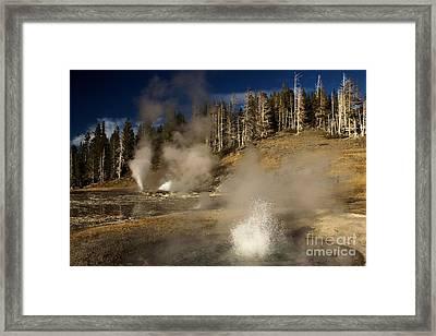 Grand Geyser Group Framed Print