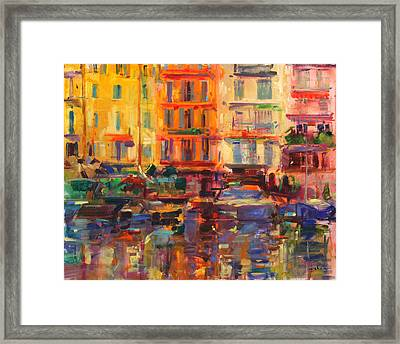 Grand Harbor, Cannes  Framed Print by Peter Graham