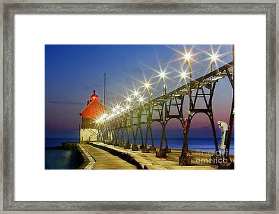 Grand Haven Front Range Lighthouse Framed Print by Twenty Two North Photography