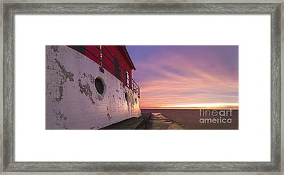 Grand Haven Lighthouse At Dusk Framed Print by Twenty Two North Photography