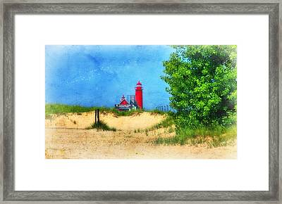Grand Haven Lighthouse Framed Print by Joan Bertucci