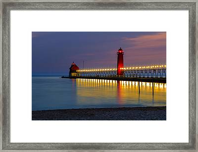 Grand Haven South Pier Lighthouse Framed Print