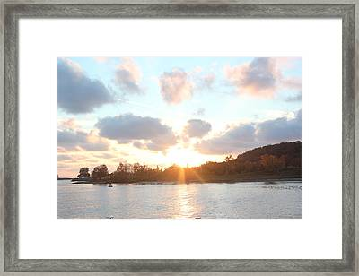 Grand Haven Sunset Framed Print