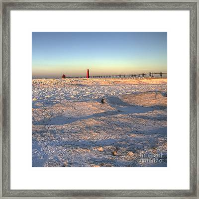Grand Haven Winter Framed Print by Twenty Two North Photography