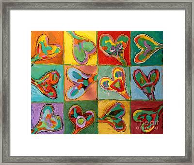 Grand Hearts Framed Print by Kelly Athena