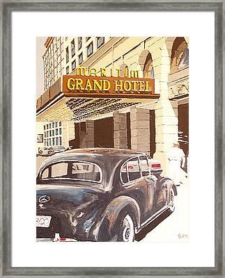 Grand Hotel East Berlin Germany Framed Print by Paul Guyer