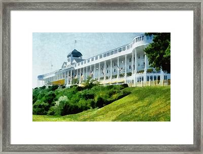 Grand Hotel Mackinac Island Ll Framed Print