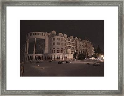 Grand Hotel On A Winter Night Framed Print by Keith Stokes