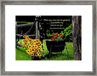 Grand Introduction Framed Print by Mike Flynn
