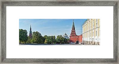 Grand Kremlin Palace With Cathedral Framed Print