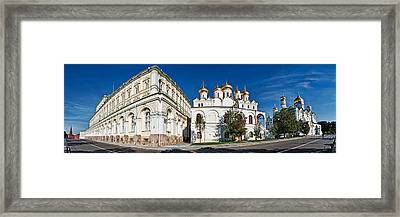 Grand Kremlin Palace With Cathedrals Framed Print
