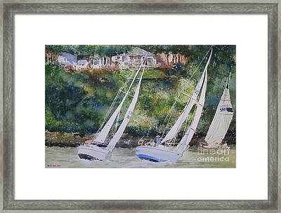 Grand Lake Regatta Framed Print