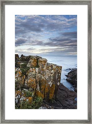 Grand Marais Cliffs Framed Print by Thomas Pettengill