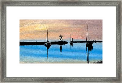 Grand Marais Harbor Framed Print