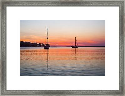 Grand Marais Sunrise Framed Print