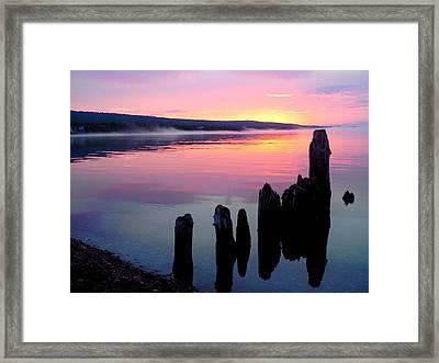 Grand Marais Sunrise  Framed Print by Rachel Ross