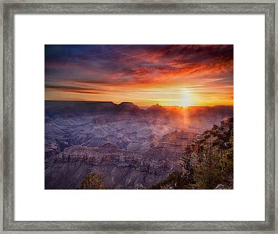 Grand Morning At The Canyon Framed Print by Andrew Soundarajan