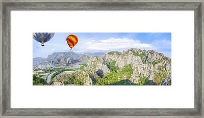 Grand Mountain And Farm  Framed Print