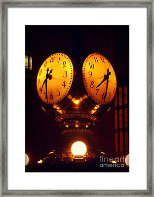 Grand Old Clock - Grand Central Station New York Framed Print by Miriam Danar