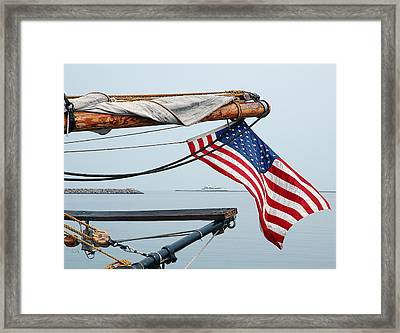 Framed Print featuring the photograph Grand Old Flag by Sami Martin
