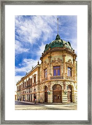 Grand Old Theater In The Heart Of Oaxaca Framed Print by Mark E Tisdale
