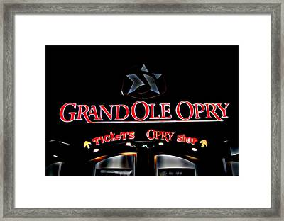 Grand Ole Opry Entrance Framed Print by Dan Sproul