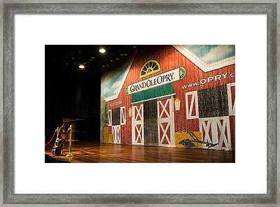 Ryman Grand Ole Opry Framed Print