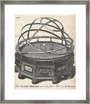 Grand Orrery By John Rowley Framed Print by The General Magazine Of Arts And Sciences/new York Public Library