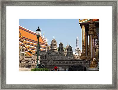 Grand Palace In Bangkok Thailand - 011320 Framed Print