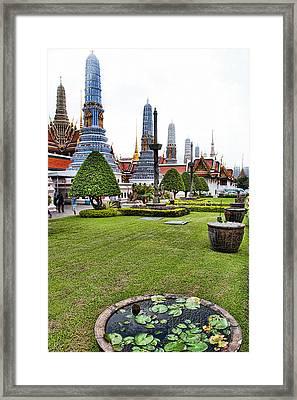 Grand Palace Temple In Bangkok 1 Framed Print by David Smith