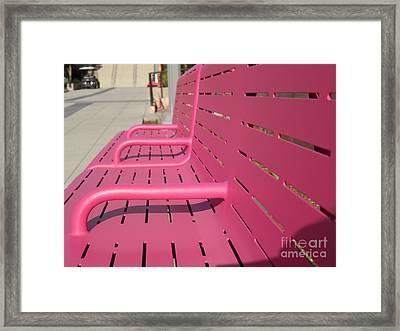 Grand Park Pink Framed Print