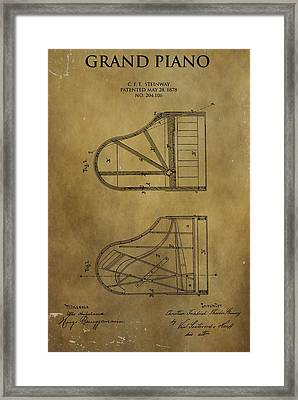 Grand Piano Patent Framed Print by Dan Sproul