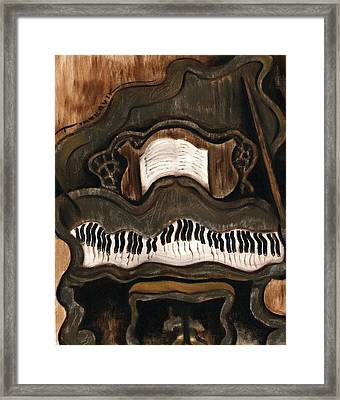 Tommervik Abstract Grand Piano Art Print Framed Print by Tommervik