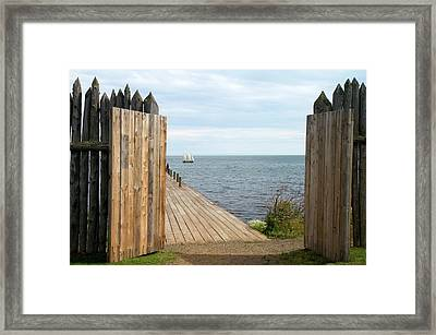 Grand Portage Footpath With A Replica Framed Print by David R. Frazier