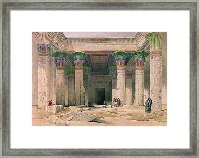 Grand Portico Of The Temple Of Philae, Nubia, From Egypt And Nubia, Engraved By Louis Haghe 1806-85 Framed Print by David Roberts