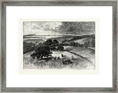 Grand Pre, And Basin Of Minas, From Wolfville Framed Print by Canadian School