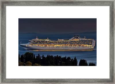Grand Princess Framed Print by Ships in Split