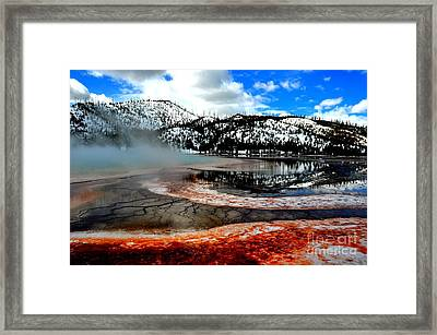Grand Prismatic Hot Spring Framed Print by Birches Photography