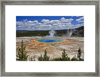 Grand Prismatic Hot Spring Framed Print